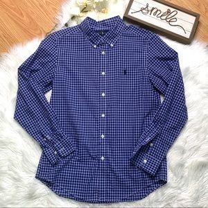 Ralph Lauren Plaid Dress Shirt Large 14-16 Boys